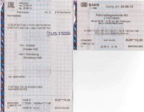 Kassel Wuerzburg ticket