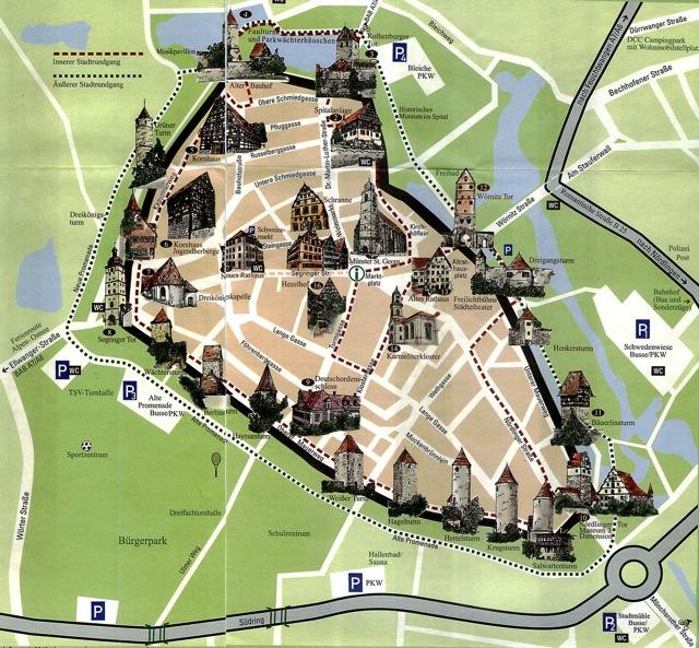 Romantische Dinkelsbuehl map