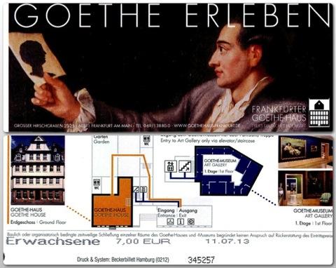 Romantische Goethehaus ticket