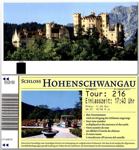 Romantische Hoenschwan ticket