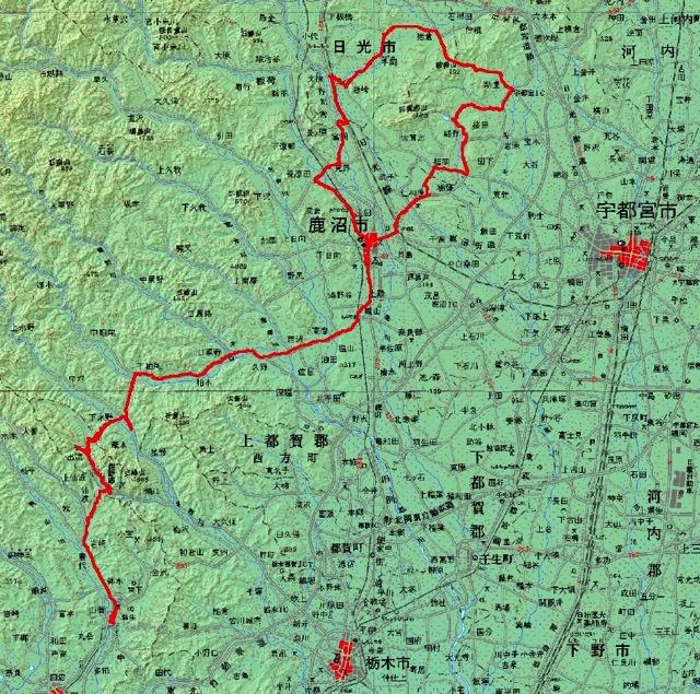 2014栃木路ツーリング map